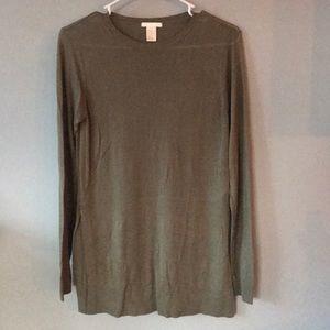 H&M Long Sleeve Tunic : Army Green